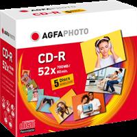 Agfa Photo 1x5 CD-R / 700 MB / Jewel Case