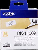 Brother Adress-Etiketten DK-11209 Schwarz auf Weiß