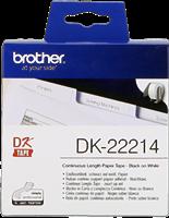 Brother Endlosetikett Papier DK-22214 Schwarz auf Weiß