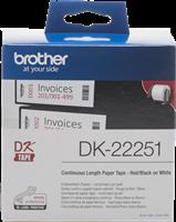 Brother Endlosetiketten DK-22251 Schwarz / Blau / Weiss