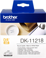Brother Runde Etiketten DK-11218