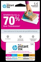 Aktion HP Instant Ink Registrierungskarte
