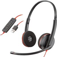 Plantronics Stereo-Headset Poly Blackwire C3220